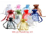 Organza Bag With Logo Ribbon Drawstring