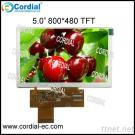 5.0 Inch 800X480 TFT LCD MODULE CT050BPL07, Optional With Resistive And Capacitive Touchscreen