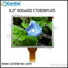 8.0 Inch 800X600 TFT LCD Module CT080BPU05, Optional With Resistive Touchscreen