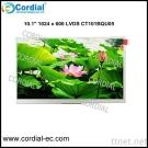 10.1 Inch 1024X600 TFT LCD MODULE CT101BQU05, Optional With Resistive Touchscreen