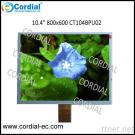 10.4 Inch 800X600 TFT LCD MODULE CT104BPU02, Optional With Resistive Touchscreen