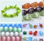 Cat's Eye Semi- Stone Beads