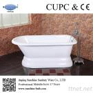 66-Inch Enamel Cast Iron Classic Roll Top Bathtub
