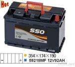 Car Starting Battery 59218MF 12V 92Ah