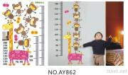 OEM  Removeble Cartoon  Wall Decals Stickers Kids Growth Chart  Wall Stickers