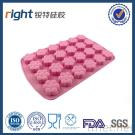 Dongguan Right Silicone, 24 Caves Flower Silicone Ice Molds