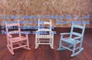 Wooden children's chairs, wooden chairs, baby chair, wooden children's rocking chair