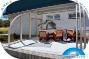 Sliding Pool Enclosure, Swimming Pool Cover, Slide Pool Cover