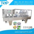 Automatic Plastic Water Jelly Cup Filling And Sealing Machine 4 Heads