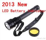 2013 New With LED Battery Indicator Super Bright 85W/65W/45W HID Flashlight Torch /HID Spotlight Light