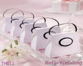 The Pink-Plaid Purse Wedding Favor Box Wedding Decoration