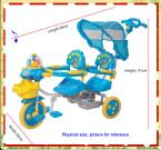 Attractive Baby Double Seat Tricycle