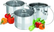 Vertical Stockpot with sandwich bottom Stainless Steel Cookware Set