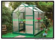 DIY Hobby Garden Greenhouse kit in Aluminum Frame, Galvanized Base and Polycarbonate Panel