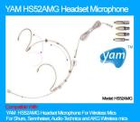 YAM H52AMG Headset Microphone for Wireless Microphone