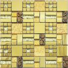 Gold Color Crystal Mixed Resin Mosaic Tile CPD 004