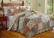 100% Cotton Patchwork Quilt with Soft Texture, Available in Floral and Check Designs