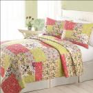 Patchwork Quilt Set with 100% Cotton, Include 1-quilt and 2-sham, Customized Sizes Accepted