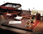 Brown Two - Tone Leather 9 - PC Desk Set