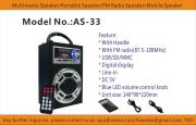 USBRechargeablemp3PlayerSpeakers with FM radio