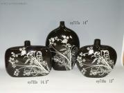 Decorated Ceramic Vases With Decal