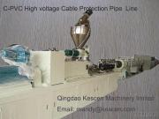 C-PVC Cable Protection Pipe Extrusion Machine