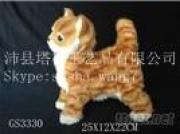 Real-Like Fur Animals Decoration Sculpture Synthetic Furry Animal