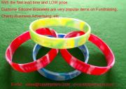 Colorul Silicone Wristbands For Company Advertising