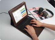 Bluetooth keyboard with leather cover , special for Ipad, BK05