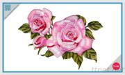 Embroidered Patch - Pink Rose