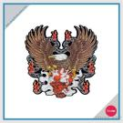 Full Embroidery USA Eagle Patch - With Skull