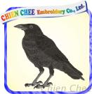 Embroidery Raven Patch (EM-007)