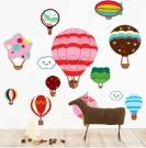 Removable Kids Room Wall Sticker, PVC Made, For Home Decoration