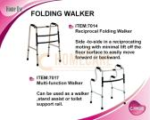 Reciprocal Folding Walker/Multi-Function Walker