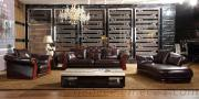Classical Leather Sofa Chaise High Quality Hotel Reception Sofa
