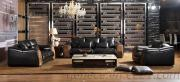 Post Modern Cow Skin Leather Couch Hot Sale Model Furniture Set