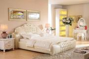 Classical Crown Prince Leather Bed Bedroom Set Furniture