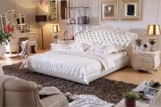 Hot Sale European Classic Leather Bed Wooden Bedroom Sets