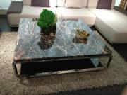 130*130Cm Large Size Natural Marble Top Coffee Table