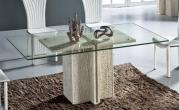 Iran Travertine White Marble Stone Living Room Sets - Dining Table