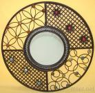 Round Metal Iron Mirror Wall Decor
