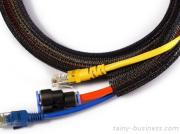 Self-Closing Expandable Cable Protective Sleeve