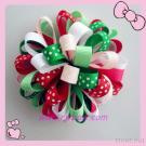 Watermelon Summer Loopy Bow