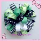 Spring Green Loopy Bow