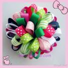 Bright Tulip Loopy Bow