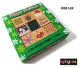 Christmas Wooden Stamps+Ink