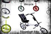 Unicycle, Recumbent Bike