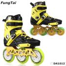 Men 2 In 1 Street Slalon Roller Inline Skates With 4 Wheels And Professional 110Mm Speed Skate Shoes With 3 Wheels (DA1013)