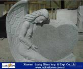Cheap G633 Grey Granite Angel Tombstone