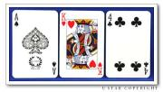 Playing Card Paper Board Black Center, Blue Center